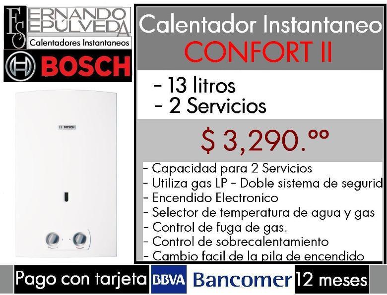 Boiler de paso o calentadoraes instantaneos bosch confort - Calentadores de gas bosch ...